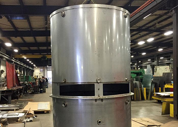 formed metal tank